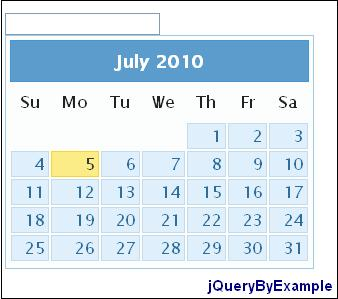 Show multiple months in jQuery datepicker | jQuery By Example