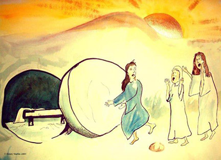 Easter Day Empty Tomb Jesus Resurrection Pictures Coloring Pages ... | 313x432