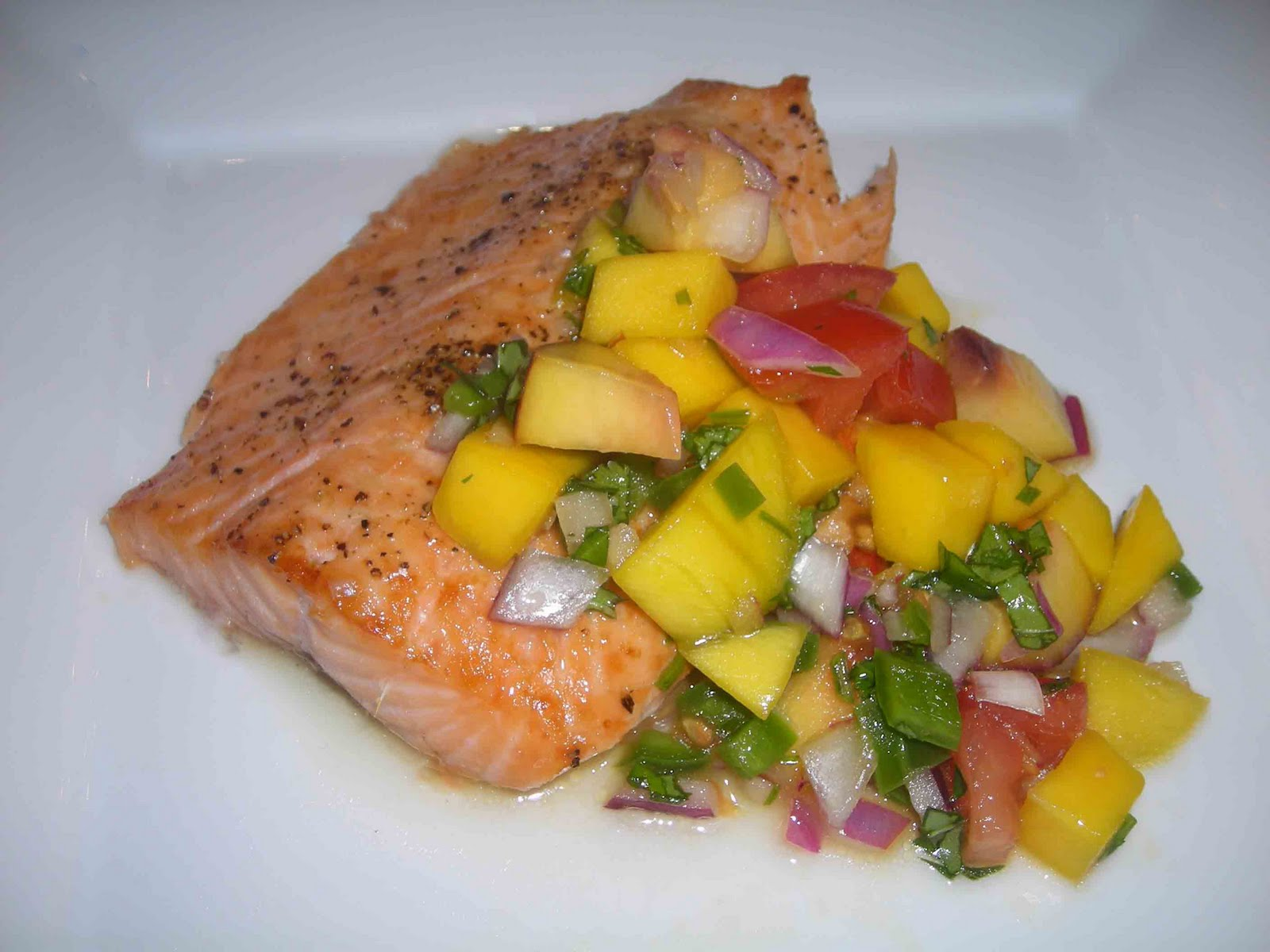 Country Kitchen Salmon Mango Salsa