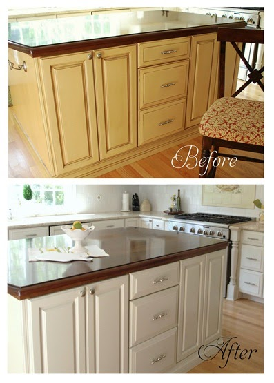 kitchen cabinet painting before and after the happy married refinishing kitchen cabinets 9126