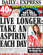 Daily Express London Bank Holiday Monday 25 August 2008