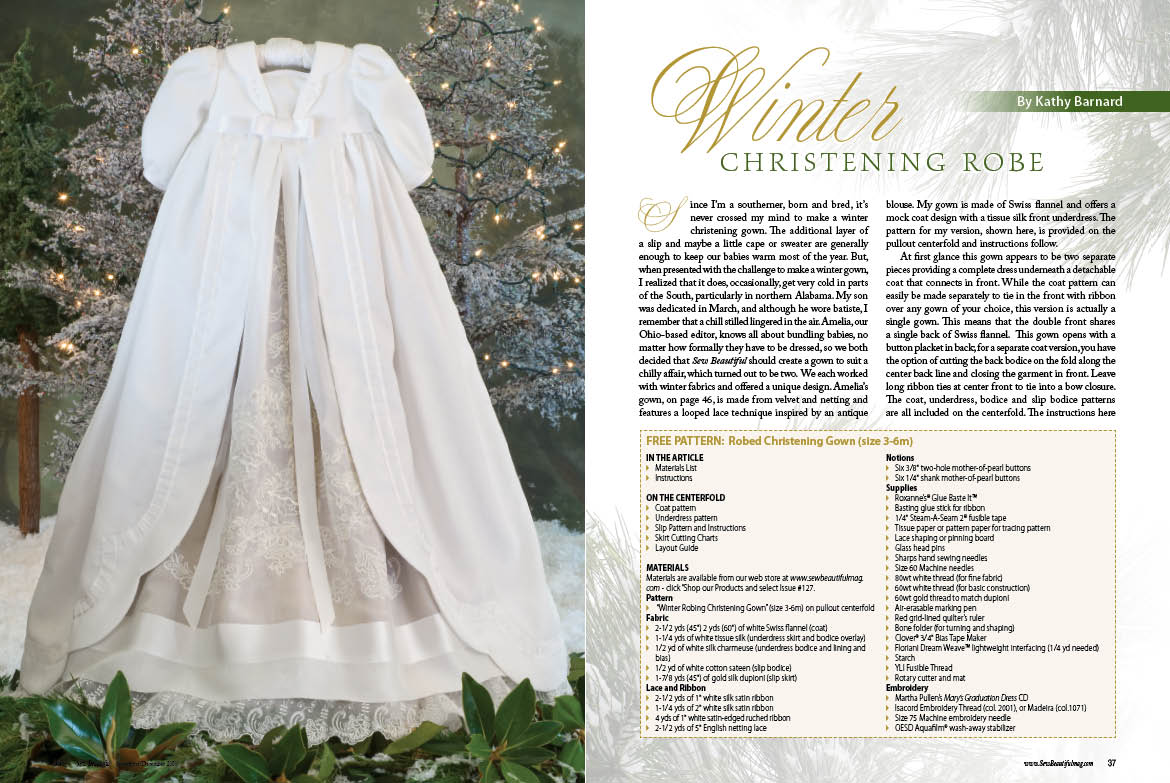 Free Christening Gown Patterns Catalog Of Patterns