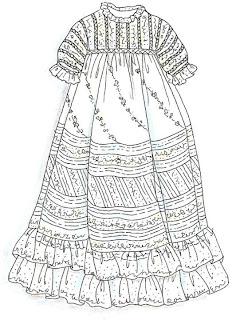 Sew Beautiful Blog: Emeline's Diagonal Lace Christening