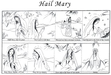 catholic coloring pages hail mary - photo#10