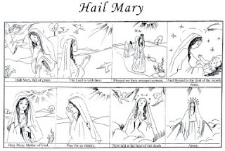 catholic kids coloring pages mary - photo#35
