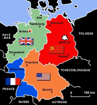 Carte Allemagne Divisee.Tpe Sur La Chute Du Mur De Berlin Introduction