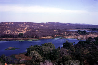 The habitat of Ranthambore National Park along with lakes, as seen from atop the 1000-year old Ranthambore Fort