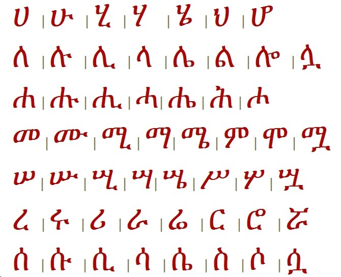 Language This is the Amharic alphabet Amharic is the official - sponsorship thank you letter