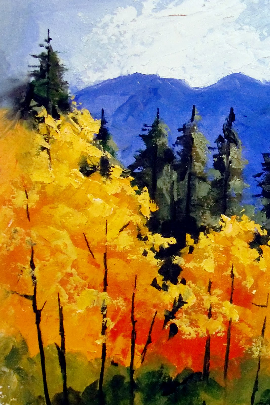 "Daily Painters Abstract Gallery: ""FALL IN COLORADO II ..."