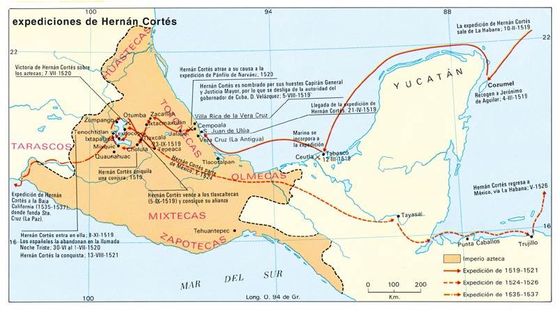 Expedición de Hernán Cortés a México (I) - 1519 3