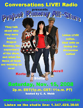 Korto, Stella and Jerrell of Project Runway