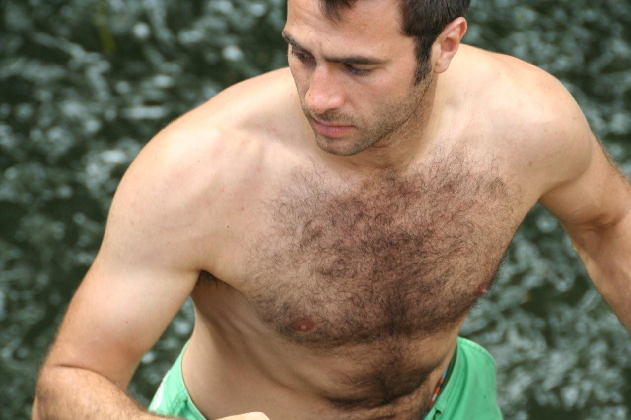 Sexy men with hairy chest agree with