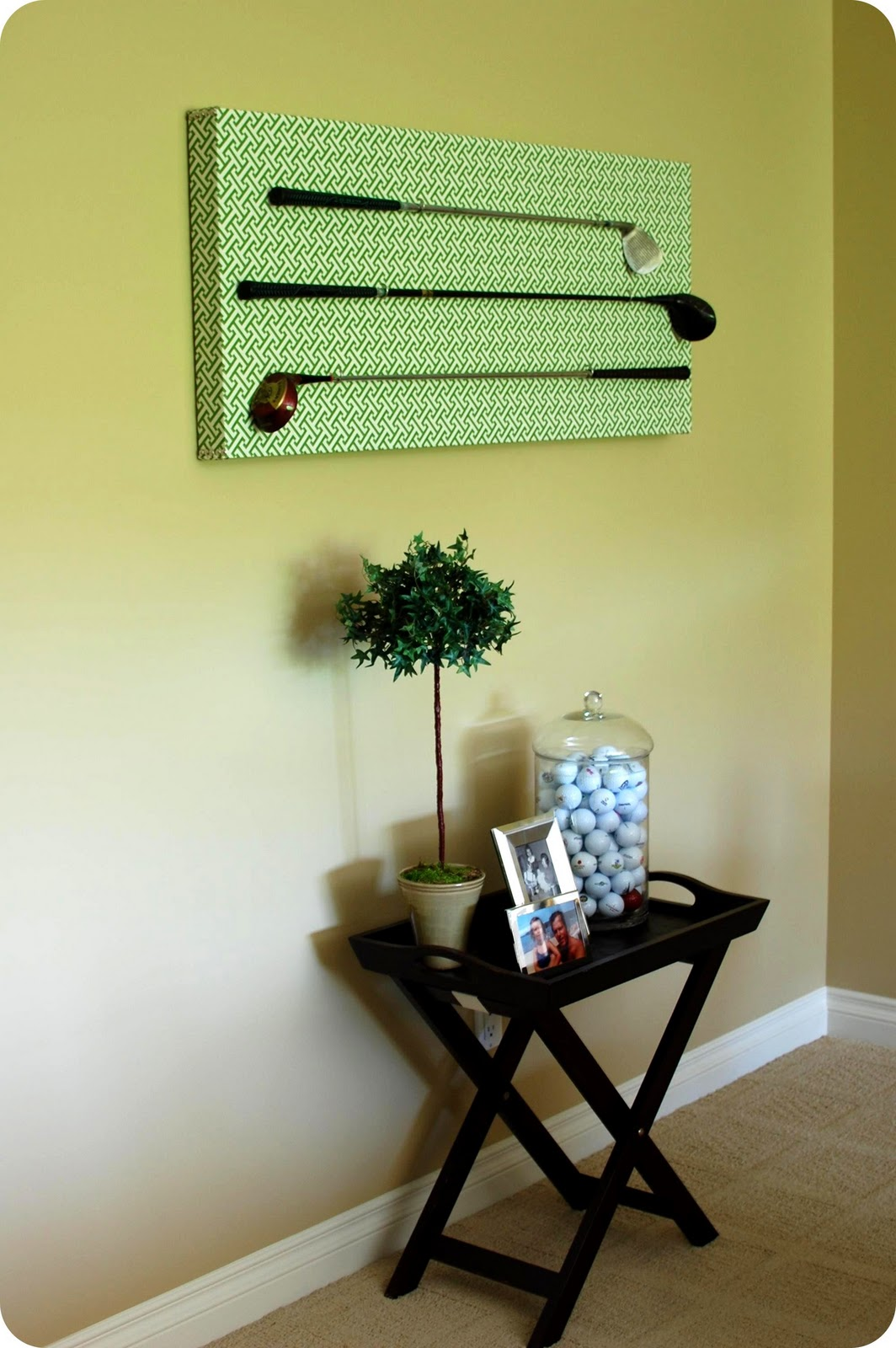 Remodelaholic | DIY Golf Club Art Display Project; 33 Shades of Green