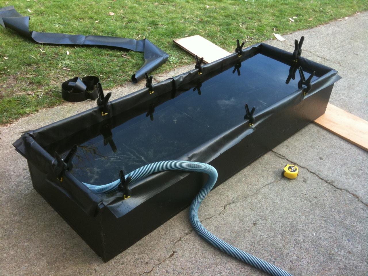 Goldfish Garage A Two Car Fishroom Plywood Lined Ranchu Tub