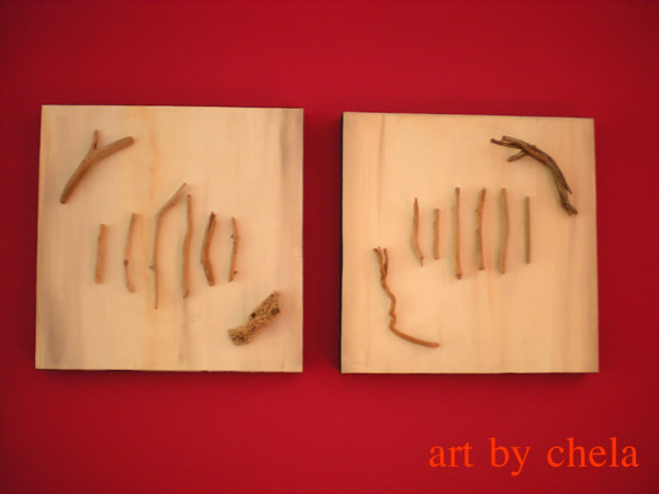 Art by chela naturaleza en la pared ideas para for Enmarcar cuadros en casa