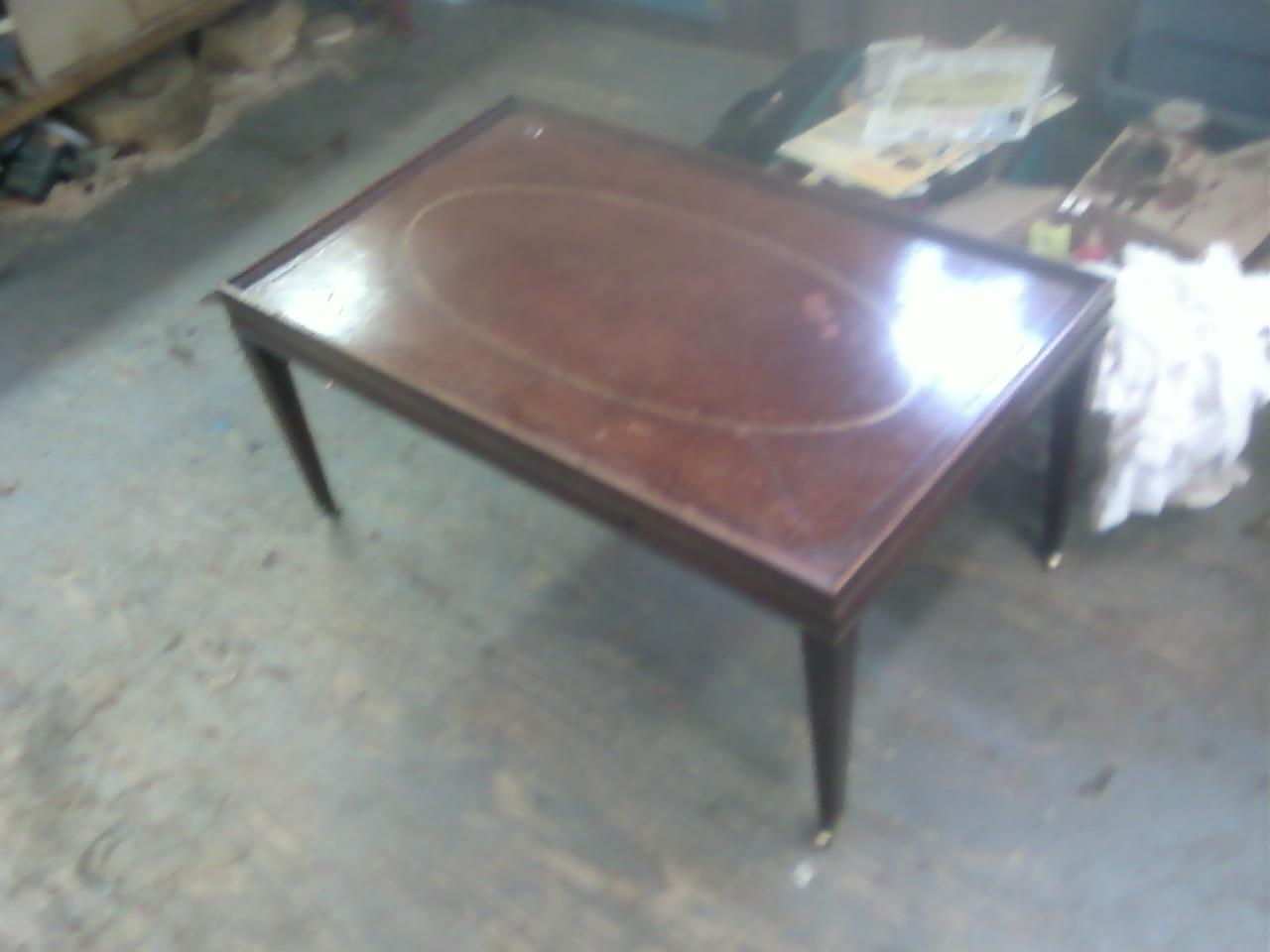 Below Are Some Photos Of The Restoration Wood And Leather First Two Show Table As It Came To Me