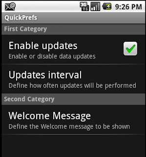 Android Quick Preferences Tutorial
