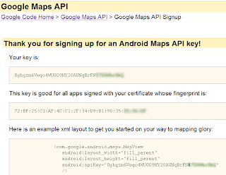 android google maps API