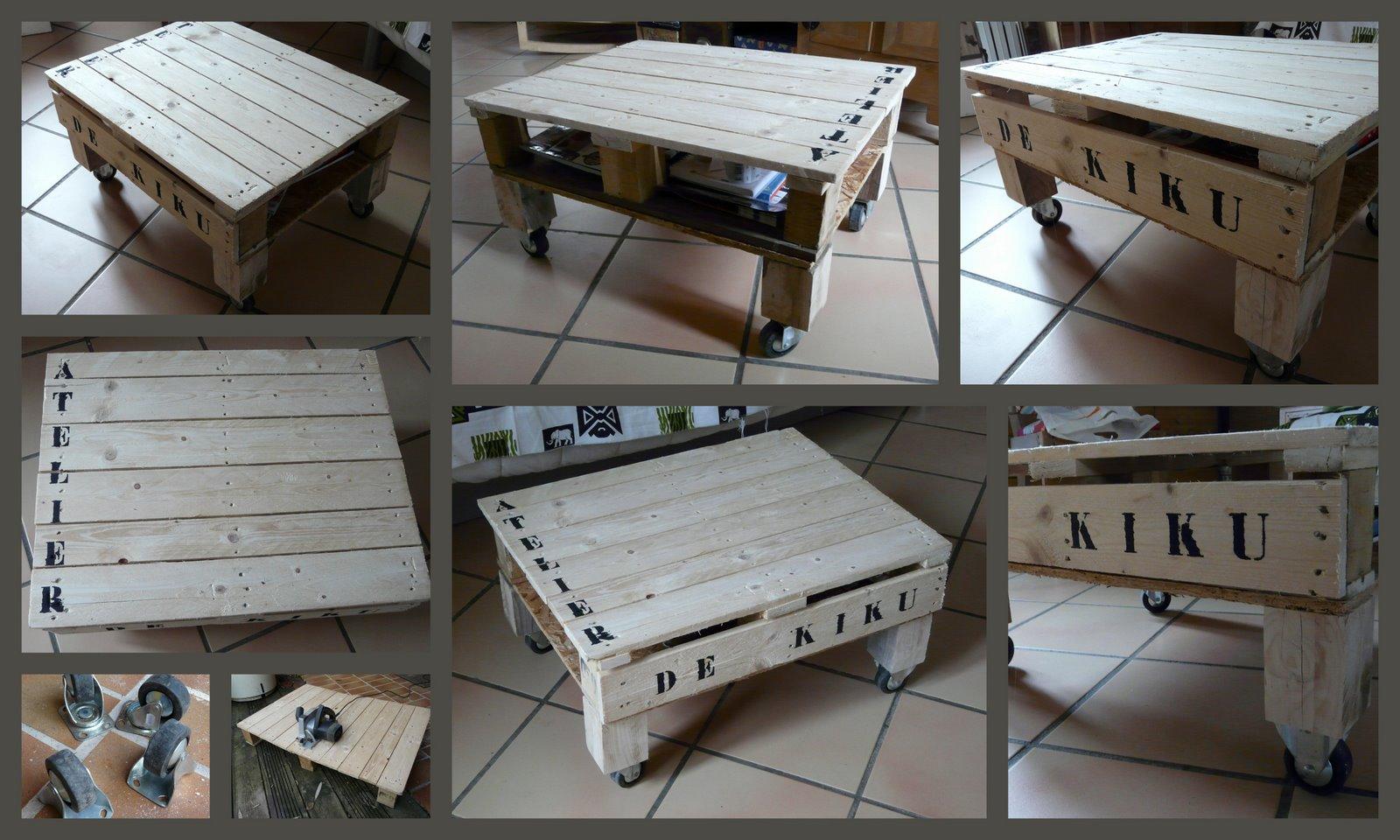 l 39 atelier de kiku table basse en palette. Black Bedroom Furniture Sets. Home Design Ideas