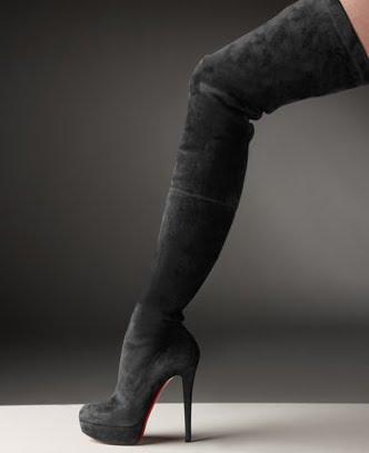 best authentic a4777 8b68a cheap christian louboutin thigh high boots