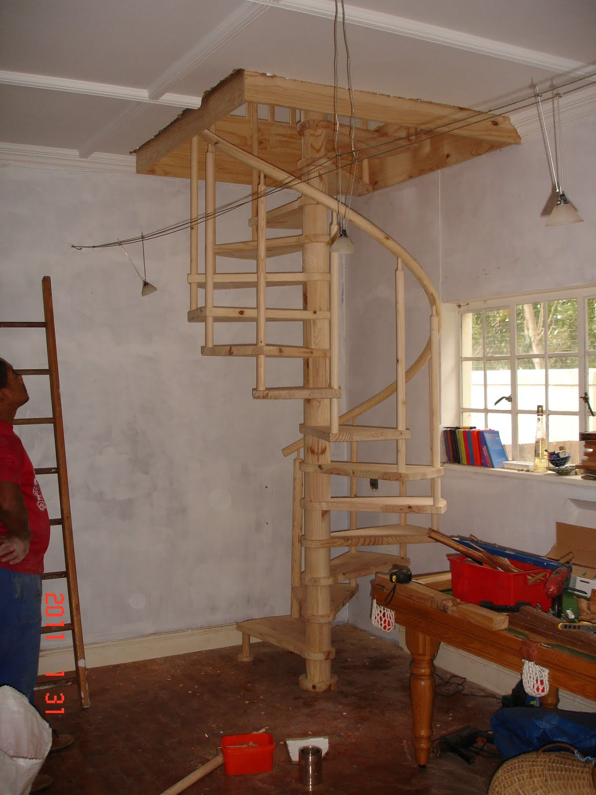 Cape Stairs D I Y Spiral Staircase With Round Balusters And