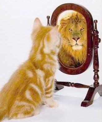 Resultado de imagem para olhando no espelho