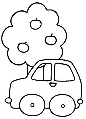 Auto kleurplaat peuter