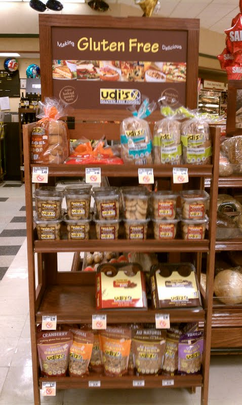 Gluten Free Durham: Udi's Product Display at local Kroger