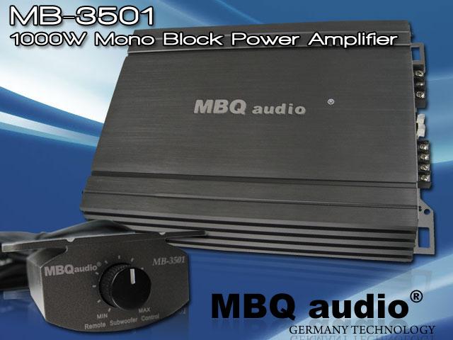 zack audio mbq audio germany mb 3501 1000w mono block power amplifier advanced q bass. Black Bedroom Furniture Sets. Home Design Ideas
