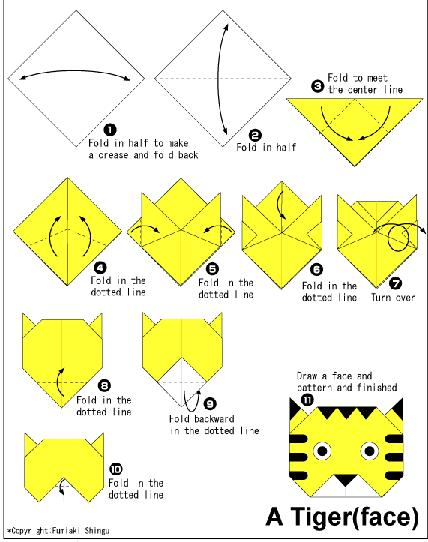 How To Make Origami Pikachu Face