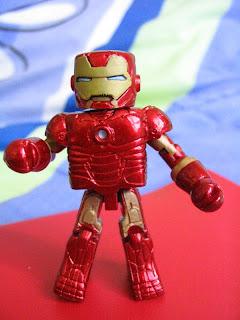 Marvel Iron Man 2 Mini Mates Avengers Tony Stark Pepper Potts Mark III Unmasked Movie