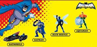 DC Batman Brave and Bold Universe Infinite Crisis animated series cartoon comics batmobile hot wheels batpod batrang Blue Beetle Aquaman Atlantis McDonalds