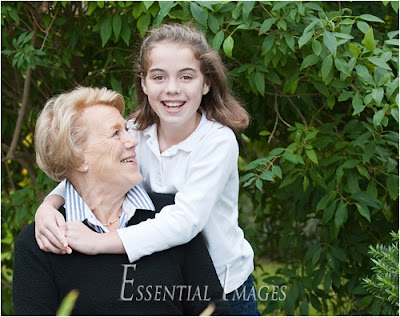 Grandma and granddaughter for a birthday portrait