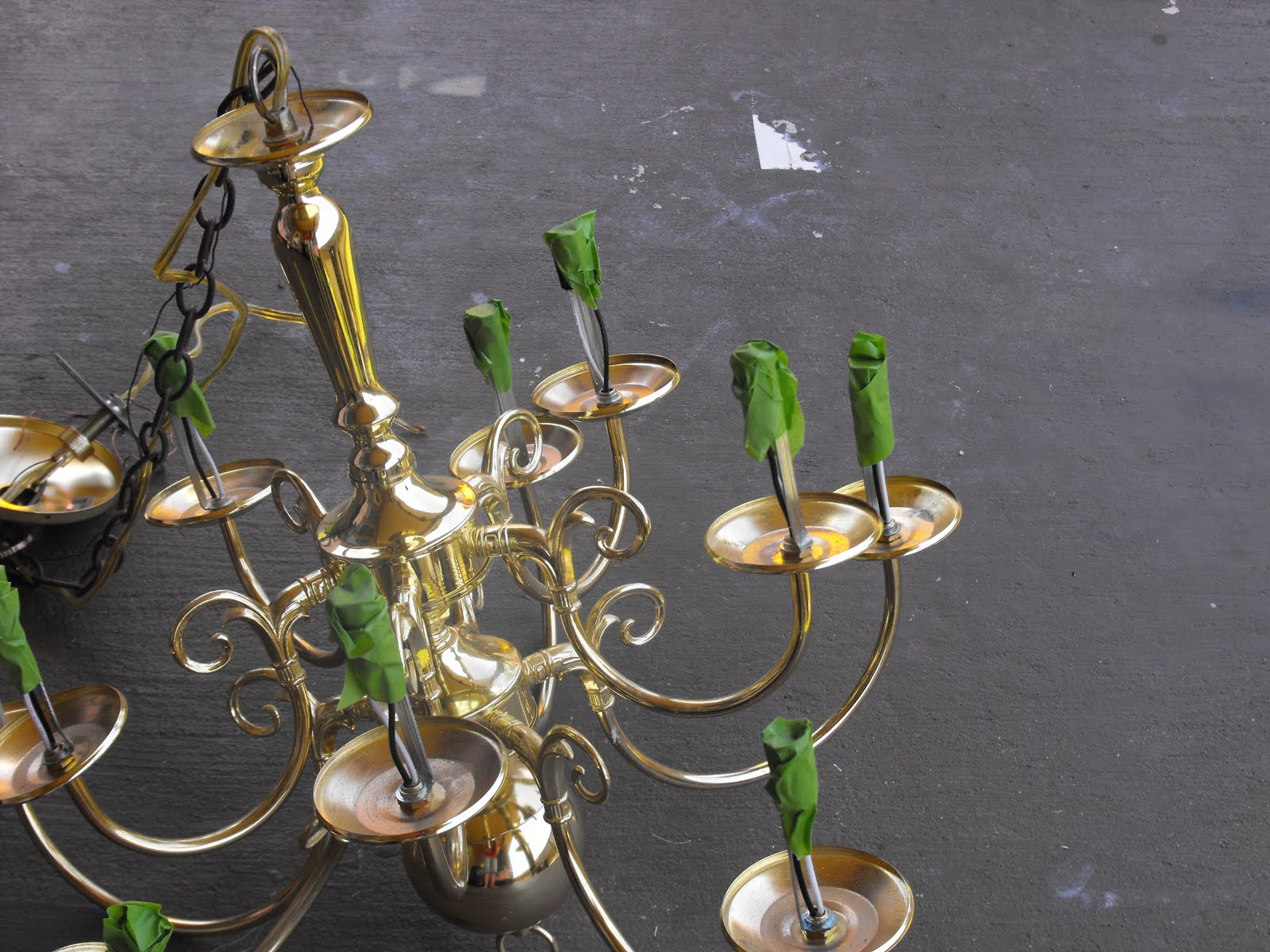 Remodelaholic diy brass chandelier makeover aloadofball Choice Image