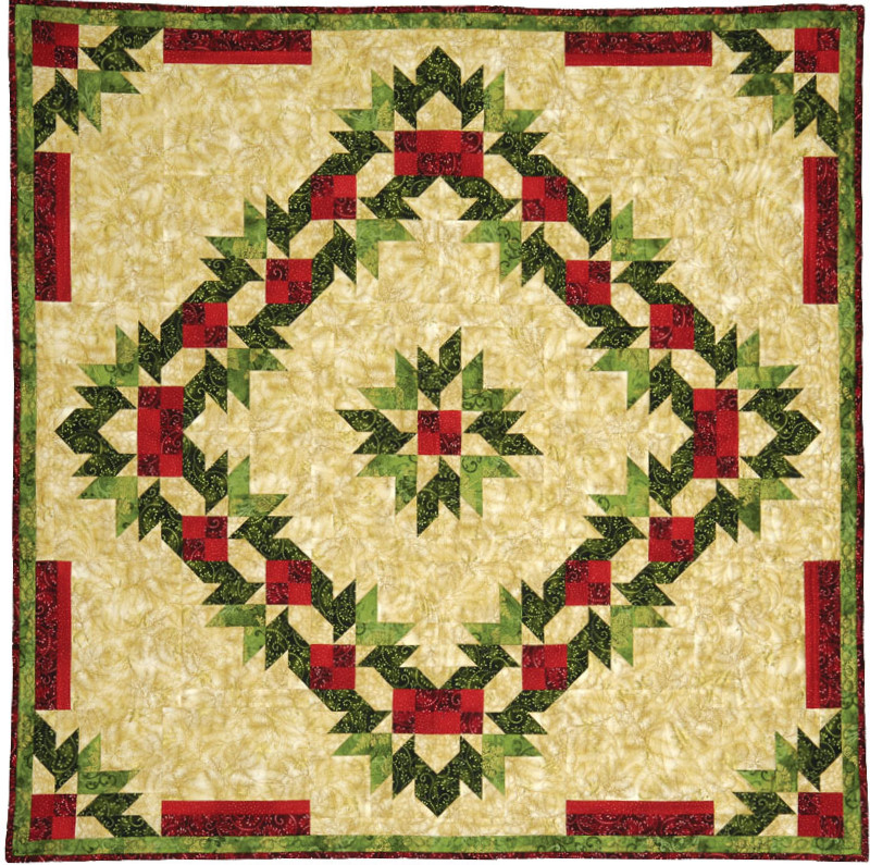 Quilt Inspiration Inspired By Red And Green Two