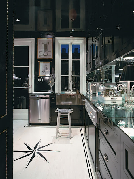 cabinets kitchen modern black