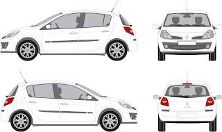 Vectorian art: Renault Clio Vector Free Downloadfree