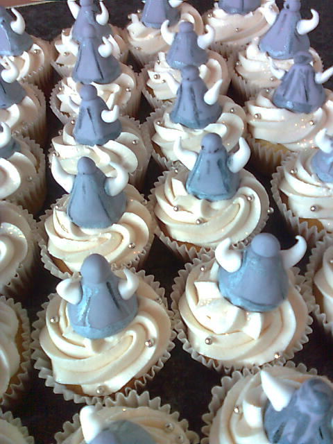 Asterix Cake And Viking Cupcakes