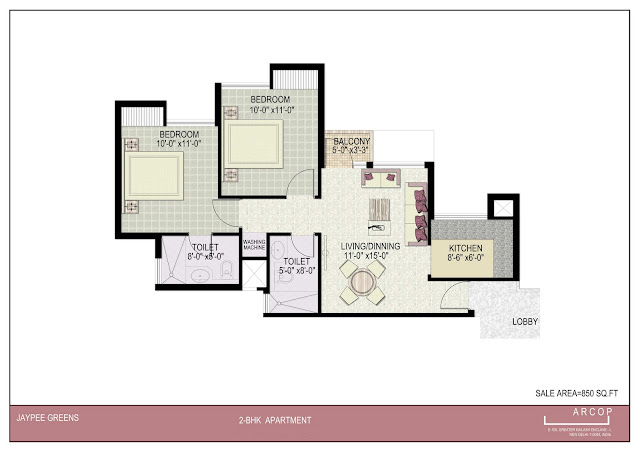 Beautiful 850 sqft 2BHK Villa Plan Indian Home Elevation