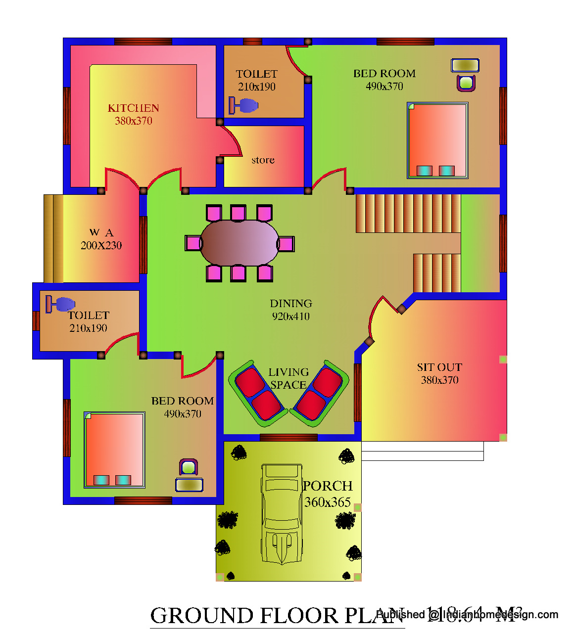 Free Plan For 3 Bedroom House In India 3 Bedroom House Plans With