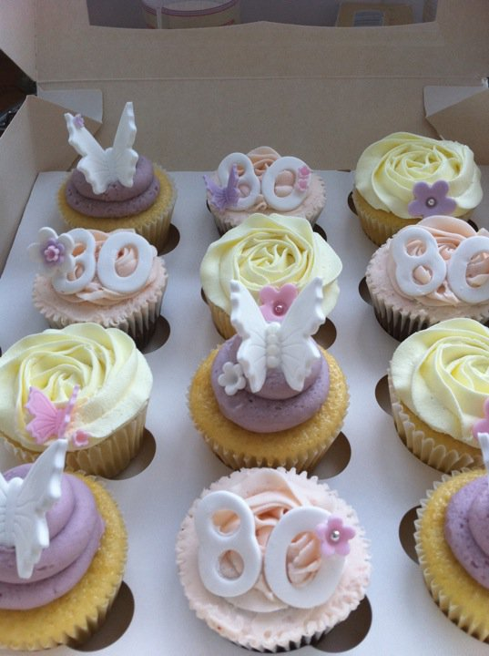 80th Birthday Cupcake Decorations Image Inspiration of Cake and