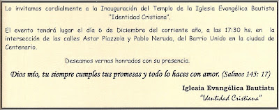 Tarjetas De Invitacion Cristianas Iglesia Evangélica