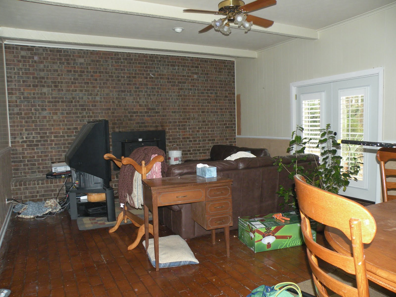 more pics2014: Remodelaholic | Painting Over Knotty Pine Paneling; Complete Master ...