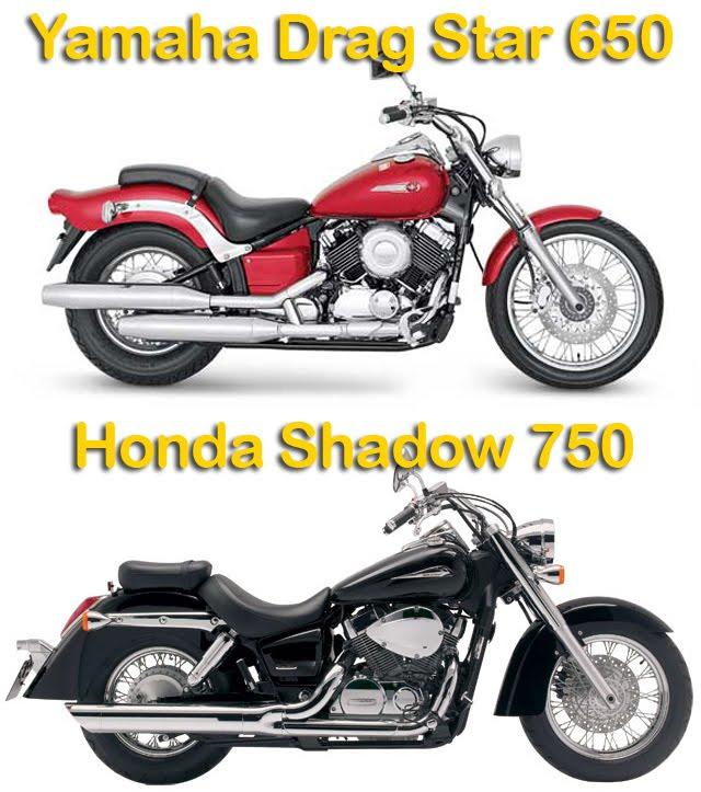 Comparativo: Yamaha Drag Star 650 X Honda Shadow 750