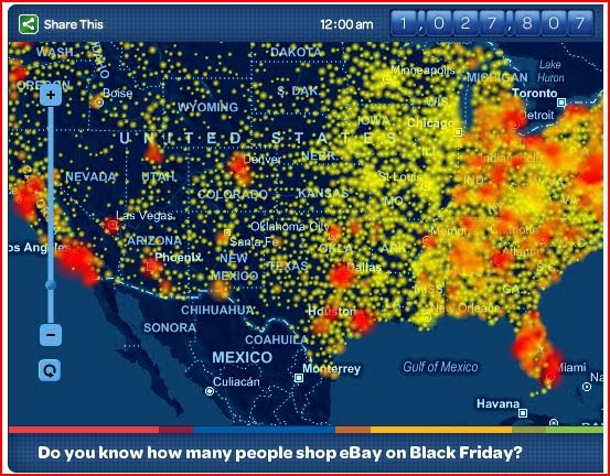 Online sales up on Black Friday - Heat mapping Sales