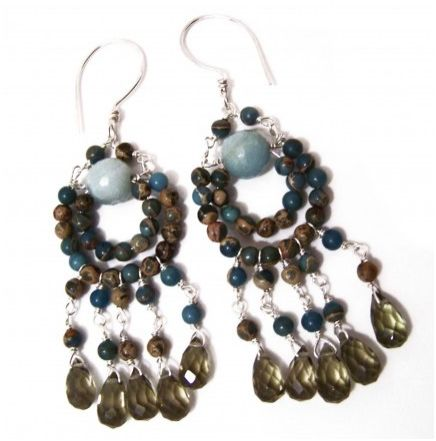 How to make bead and wire chandelier earrings tutorials the chandelier earrings are statement pieces for your ears most of us make chandelier earrings by using some sort of finding which allows us to hang mozeypictures Images