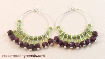 How To Make Hoop Earrings Tutorials The Beading Gem S Journal