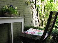 gezellig zitje tuin