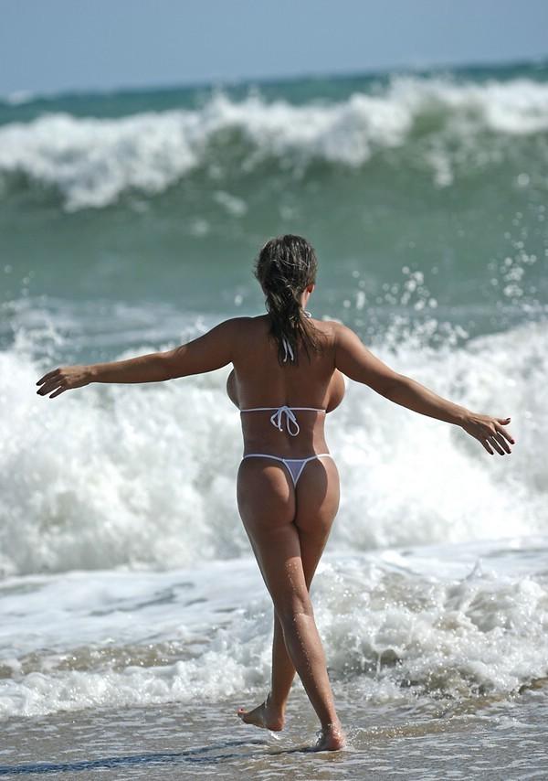 from Brenden alicia dimacro in white bikini