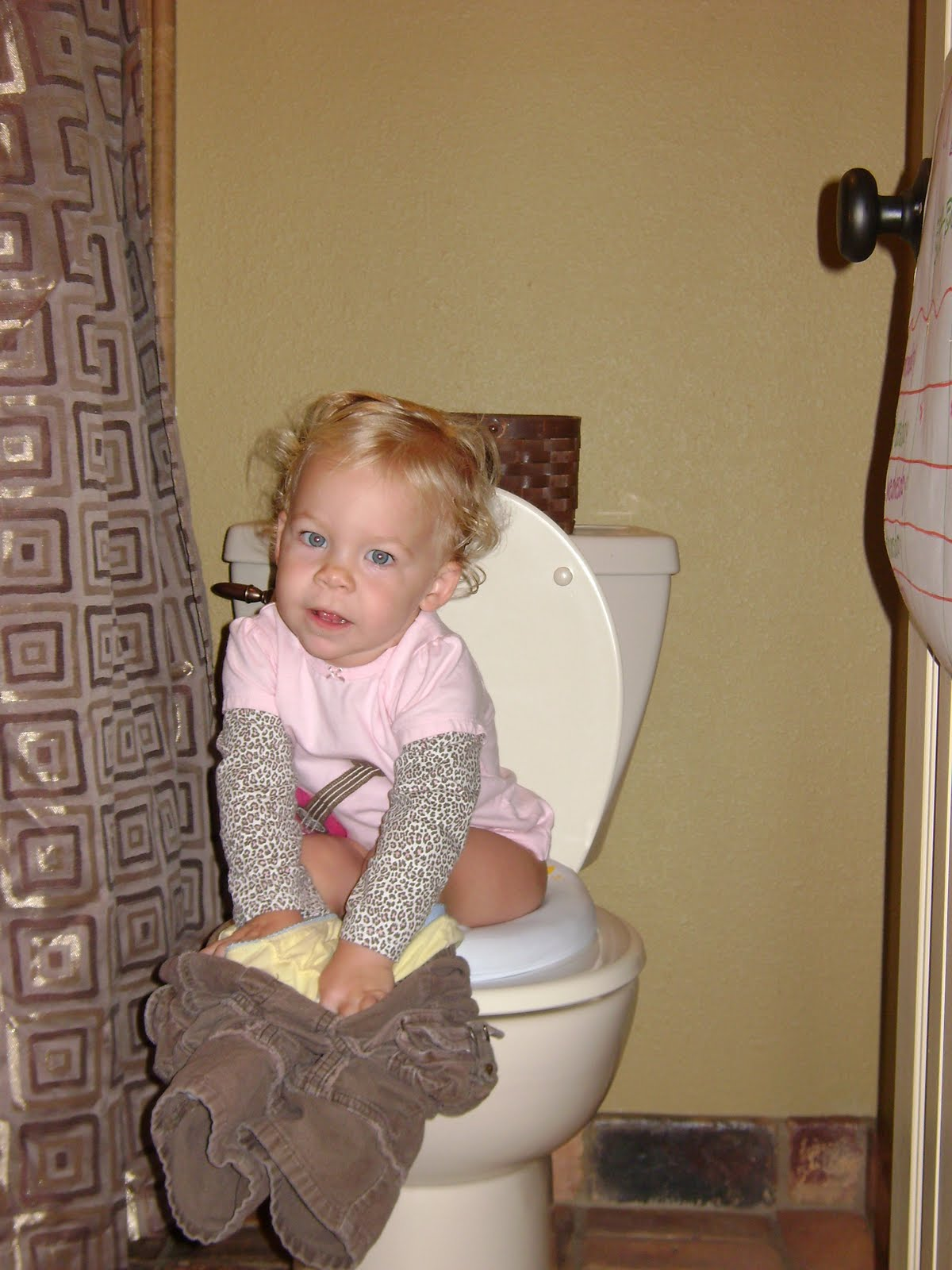 Fowler Family: potty trained.